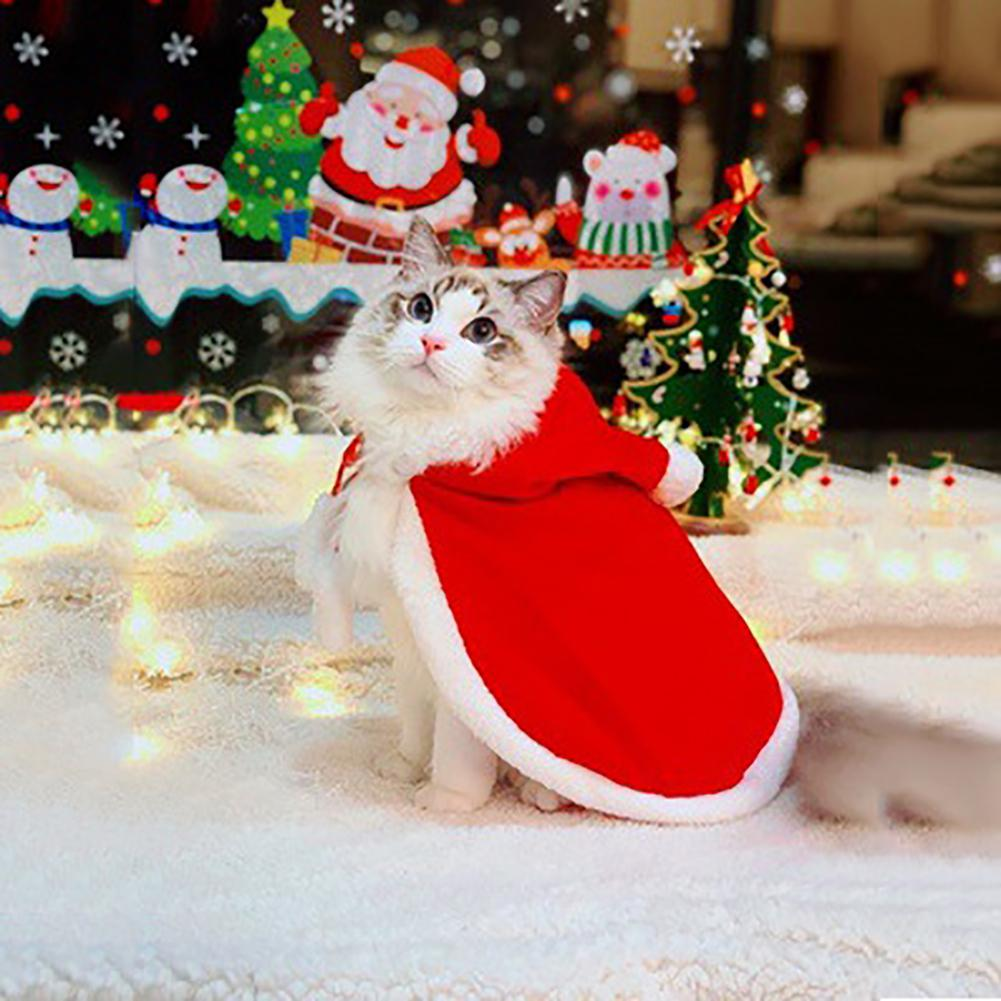 Pet Dog Cat Clothes Costume Christmas halloween Cloak New Year Party Winter