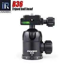 INNOREL B36 سبائك الألومنيوم كاميرا كرة ثلاثية الرأس مع لوحة الإفراج السريع أقصى حمولة 12 كجم للتصوير صورة بانورامية