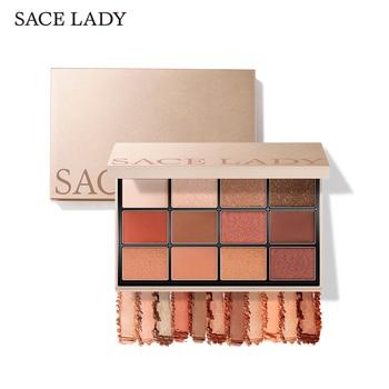 Paleta de sombra de ojos para mujer SACE, maquillaje, brillo mate, sombra de ojos, iluminador de maquillaje pigmentado, paleta profesional Nude, cosmético Natural