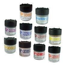 Poids Net 20/25/30 grammes boîte emballage GD marque série GD900 pâte de graisse thermique plâtre dissipateur thermique composé CN20 CN25 CN30