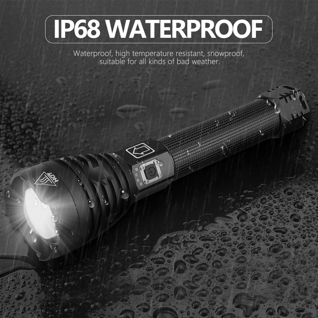 Most Powerful XHP90 LED Flashlight XLamp Zoom Torch XHP70.2 USB Rechargeable Tactical Light 18650 or 26650 Camping Hunting Lamp