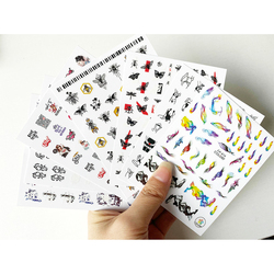 1 sheet 3D Decals Stickers Bloom Sexy Girls Bee Butterfly For Nail Adhesive Nail Art Slider 3D Accessories Decoration 2019