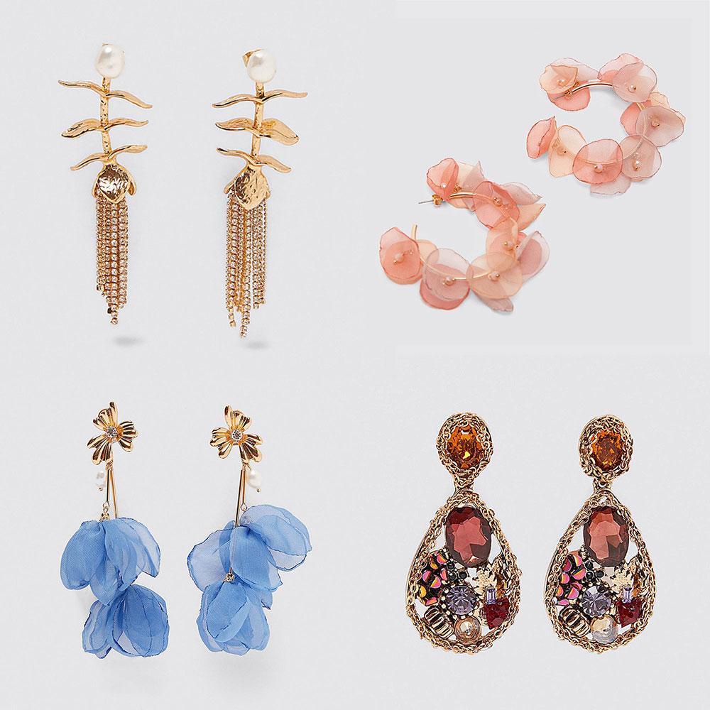 Best Lady Za 2019 New Shell Metal Maxi Vintage Drop Dangle Earrings For Women Trendy Pendant Earring Wholesale Wedding Jewelry