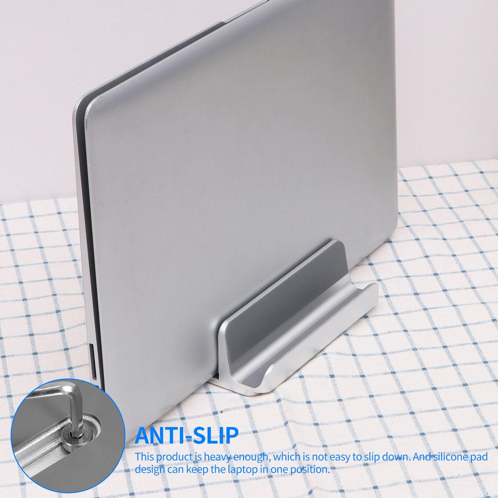 Вертикальная подставка для ноутбука Macbook Air Pro 13 15, алюминиевая настольная подставка с регулируемым размером док-станции для Chromebook