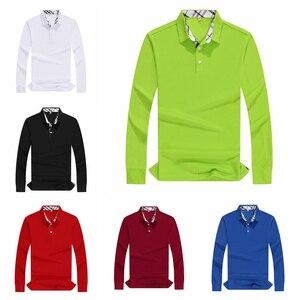 Image 1 - Plus Size Women Polo Shirt High Quality Cotton Long Sleeve Shirt Autumn Female Breathable Sweatshirt Activity Suit Customization