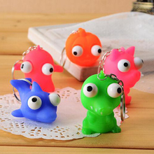 цена на Soft Squeeze Pop Out Eyes Doll Antistress Toy Novelty Stress Relief Venting Keychain Joking Decompression Funny Squishy Toys