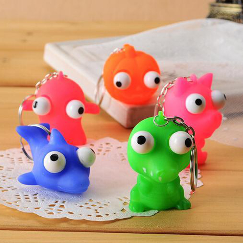 Squishy Toy Anti Stress Squeeze Toys Stress Relief Toys Funny Gadgets Kids Adult Squeeze Out Eyes Doll Antistress Toy Key-chain