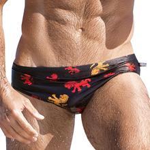Męski strój kąpielowy 2020 modne męskie spodenki do pływania stroje kąpielowe z nadrukiem szybkoschnące kąpielówki oddychający strój kąpielowy męskie majtki tanie tanio CN (pochodzenie) Printing Pasuje prawda na wymiar weź swój normalny rozmiar Nylon