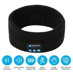 Bluetooth 5.0 musique connectée bandeau tricoté casque casque en un clic répondre à l'appel téléphonique/réglage du Volume/micro intégré