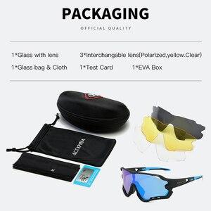 Image 2 - 2020 marka açık spor bisiklet gözlükleri erkekler bisiklet gözlük dağ yol bisikleti bisiklet gözlük UV400 bisiklet güneş gözlüğü
