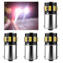 4 шт., 1156 P21W BA15S 7506 R10W, высокое качество, 5630 Светодиодный автомобильный тормозной светильник, Автомобильные дневные ходовые огни, лампы заднег...