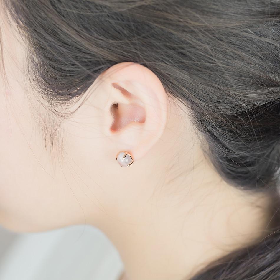 ALLNOEL 2019 New S925 Rose Quartz Pendant Earrings Natural Pink Gemstone Lovely Dog Charm Link Chain Choker Earrings  Jewelries (9)