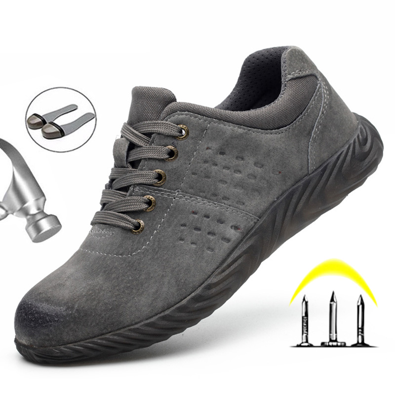 Male Safety Shoes Steel Toe Work Safety Boot Anti-puncture Work Boots Anti-smashing Work Shoes Men Boots Zapatos De Segurida