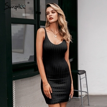 Simplee Elegant 2 pieces women knitted dress Slim sleeveless sweater dress Autumn winter ladies pullover sweater dress set