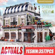 Yeshin MOC ulica miasta zabawki kompatybilne restauracja kreatywne zabawki klocki dzieci prezent na boże narodzenie