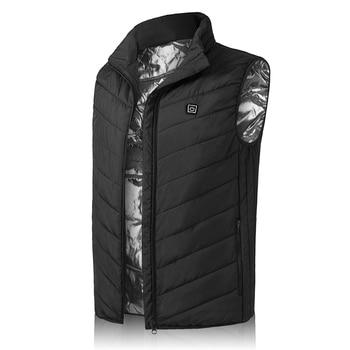 Heating Vest Winter Warm Jacket Heated Vest USB Charging Heating Vest Intelligent Electric Heating Vest Heating Clothes 9