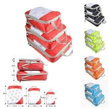 New Men Women Nylon Travel Bag Organizer Large Capacity Waterproof Folding Travel Bag Compression Packing Cube Double Zip