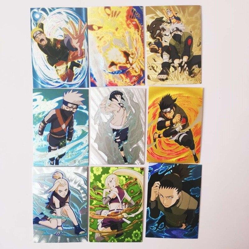 63pcs/set Naruto Uchiha Sasuke Uchiha ObitoJiren Splicing Card Game Action Toy Figures Commemorative Edition Collection Cards