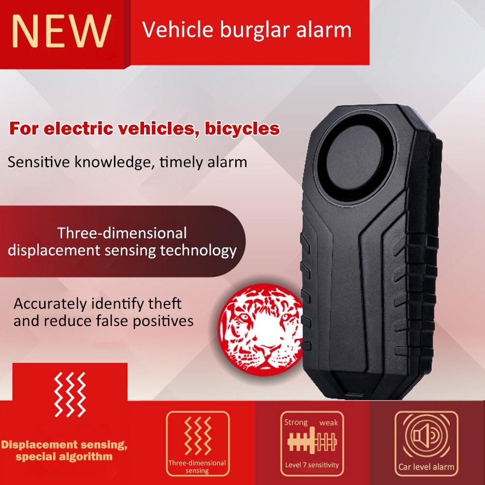 Motorcycle Bikes Security Alarm Bike Protecter 113dB Anti-Theft Vibration Waterproof Burglar Alarm Automobile Alarming Apparatus