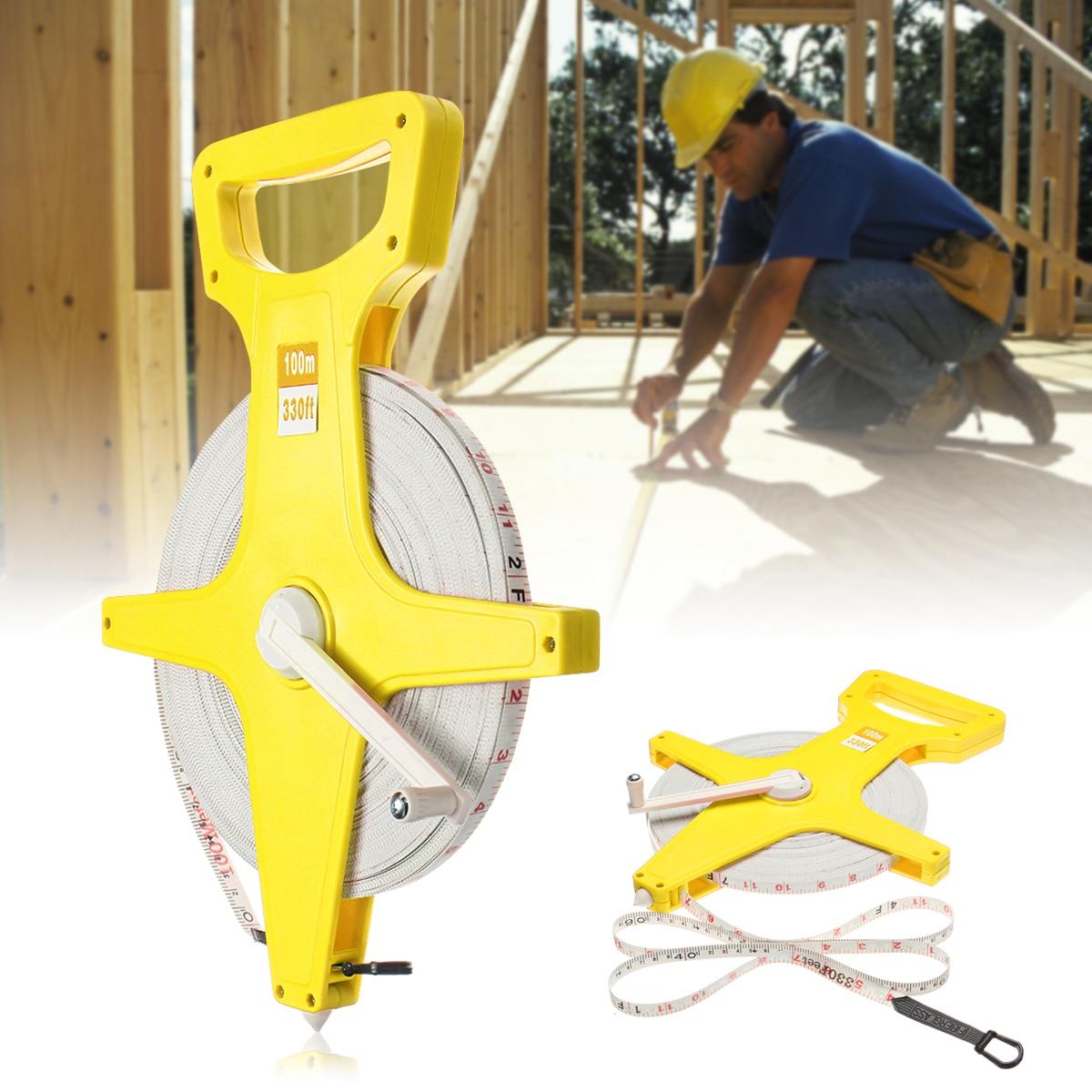 2 x 30 metre 100 feet TAPE MEASURE REEL builder surveyor carpenter