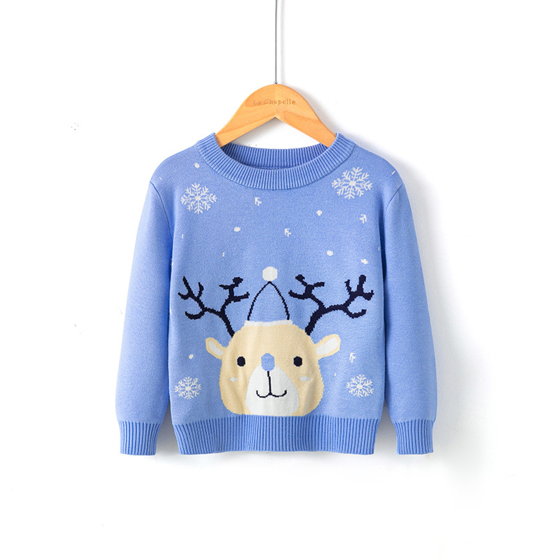 2021 Winter Boys Girls Sweater Christmas Costume Autumn Children Clothing Knitwear Boy Pullover Knitted Sweater Kids Sweaters 2