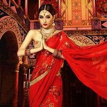 Clothing Salwar India Pakistani Kurties Women Kameez-Suits Traditional Wedding Embroidery