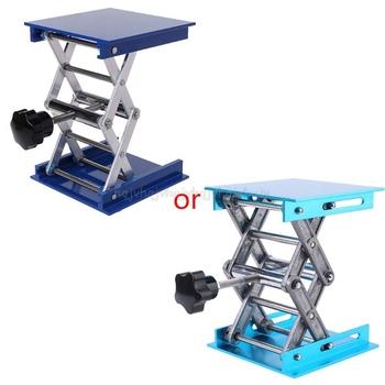 4 #8222 x 4 #8221 aluminium Router stół podnoszony grawerowanie drewna Lab podnoszenie wieszak stojący podnośnik tanie i dobre opinie BENGU 3906044