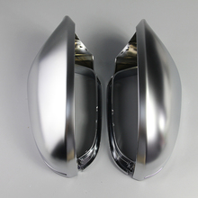 For Audi A6 C7 S6 2012 2013 2014 2015 2018 1 Pair Rearview Mirror Shell Cover Protection Cap Matte Sliver Chrome Mirror Cover