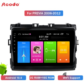 ACODO 2+16G Android 10.0 Car Radio Multimedia Player For Toyota PRIUS 2016+ Navigation GPS 2 din image