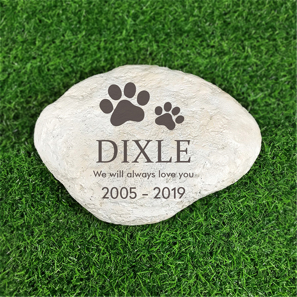 Personalized Resin Pet Memorial Stones  For Paw Print  Garden Stones Grave Markers For Outdoor garden decoration 11
