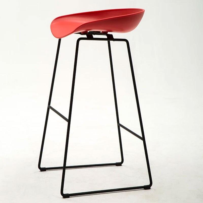 Nordic Style Barstool Modern Creative Simple Leisure Home Bar Tea Shop Various Colour High Foot Barstool