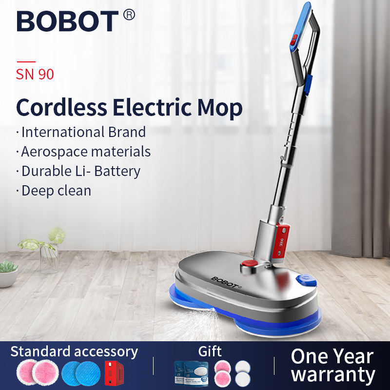 BOBOT SN 90 Bobot Electric Cleaning Mop Cordless Electric Mop Electric Spray Water  Mop Sweeping And Waxing  Functions