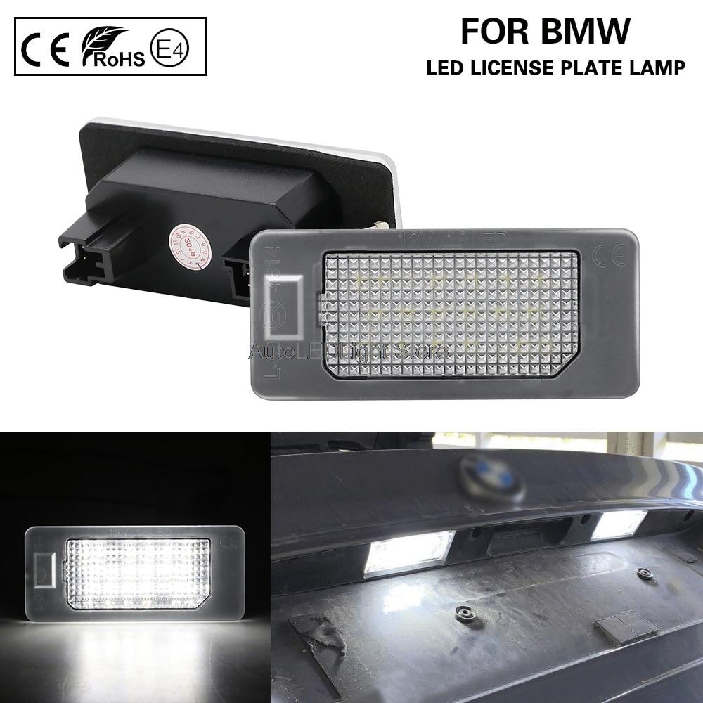 2 Para BMW E39 E60 E82 E70 E90 E92 F10 LED Licencia Número De Matrícula Lámpara de Luz Bombillas