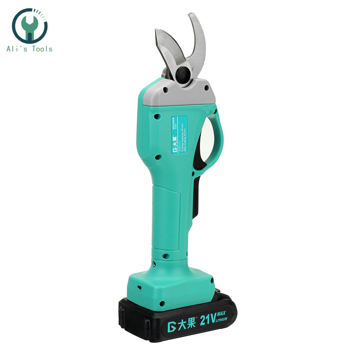 21V Wireless and Rechargeable Electric Garden Scissors for Pruning Branches with 30mm Maximum Cutting and 2 Li-ion Battery 3