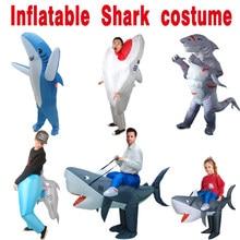 ליל כל הקדושים קוספליי קרנבל מתנפח כריש תלבושות מסיבת תחפושות לנשים גברים בעלי החיים קוספליי
