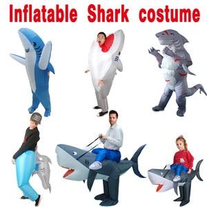 Image 1 - Halloween Cosplay Carnevale Gonfiabile Shark costume Costumi Del Partito per le donne degli uomini di cosplay Animal