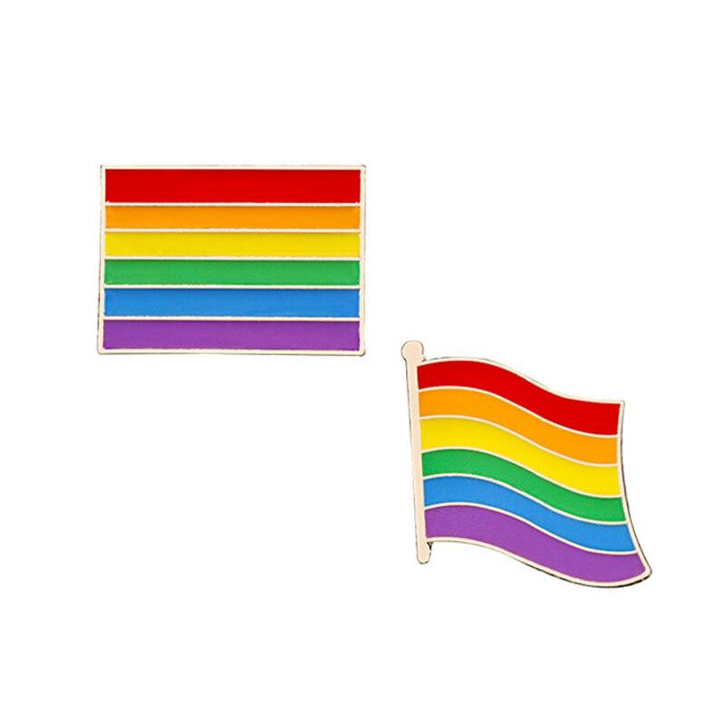 2-3 шт./компл. значок булавки на лацканы ювелирные изделия броши на булавке, Радуга Мышь палец игры поворотный стол овец куртки кнопка Радужный Флаг ЛГБТ брошь подарок - Окраска металла: style 3