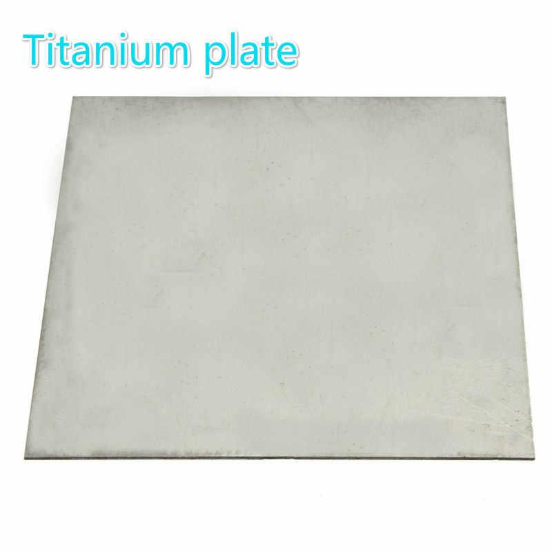 Titanium plate Ti Titan Gr.5 Gr5 Grade 5 Plate Sheet 6 x 100 x 100 mm #EW8-C GY