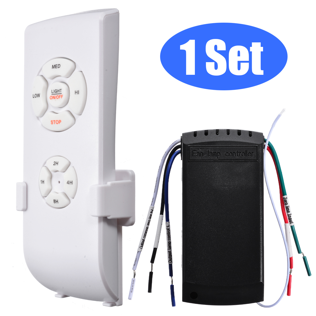 1Set  Plastic Universal 90~265V Ceiling Fan Light Lamp Wireless Remote Control Receiver Timing Remote Controls