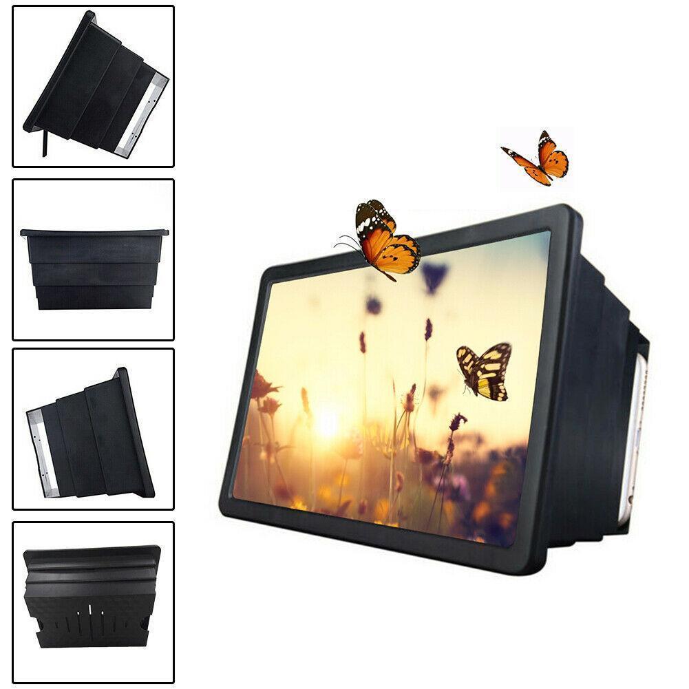 Phone Screen Magnifier 3D HD Movie Video Amplifier Holder Amplifier Stand Holder Support Foldable Cellphone Bracket Video W Q9G4