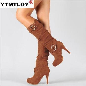 Γυναικείες Μπότες Ψηλές pu δερματίνη