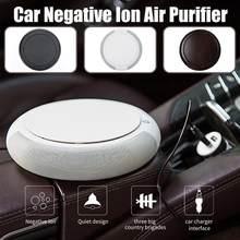 Smart Ionisator Anion Fahrzeug Auto Luftreiniger USB Luftreiniger 3-schicht Filter Frischer Mini Air Purifier Deodorizer w/auto Ladegerät