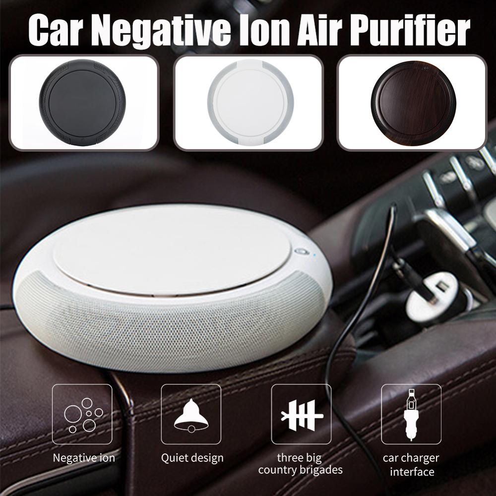 Smart Ionizer Anion Vehicle Car Air Purifier USB Air Purifier 3-layer Filter Fresher Mini Air Purifier Deodorizer w/ Car Charger