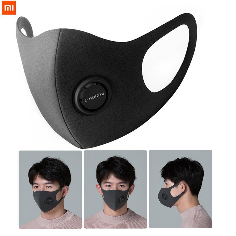Xiaomi Mijia Smartmi Anti-Haze KN95 Face Cover Face Mask Block 96% PM2.5 Haze With Ventilating Valve Filter Mask Smart Home