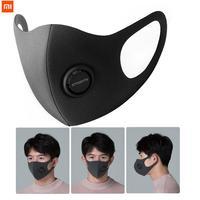 Xiaomi mijia smartmi anti haze kn95 face cover máscara facial bloco 96% pm2.5 haze com válvula de ventilação filtro máscara casa inteligente|Controle remoto inteligente| |  -