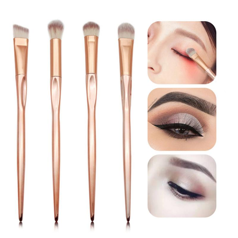 4 PCS Professional Eyeshadow Brushes Rose Gold Eye Shadow Makeup Tool Women Beauty Makeup Tool Maquiagem