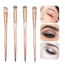 4 PCS Professional Eyeshadow Brushes Rose Gold Eye Shadow Makeup Tool Women