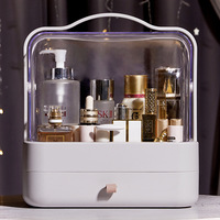 Large Capacity Makeup Organizer Portable Cosmetic Storage Box Dustproof Drawer Waterproof Jewelry Container with Lid