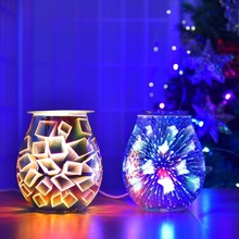 Essential Oil Diffuser Glass Wax Melt Warmer Electric Incense Wax Tart Burner Fragrance Night Light Aroma Decorative Gifts Decor mahogany quality crafts line pomades at home line incense burner wood lying incense box incense stove sandalwood furnace
