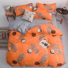 Juego de cama de dibujos animados de aguacate para niños adultos edredón tamaño King Queen juego de cama estampado verde Textiles para el hogar ropa de cama 3/4 Uds